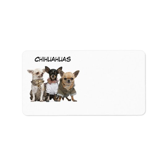 CHIHUAHUAS LABEL