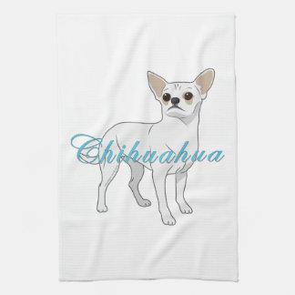 Chihuahuas: Little White Chihuahua Kitchen Towel