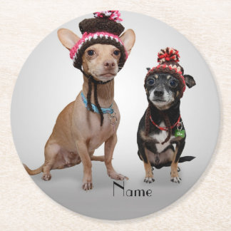 Chihuahua's Round Paper Coaster