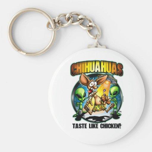 Chihuahuas Taste Like Chicken Keychain