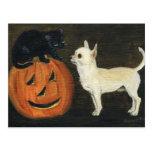 """Chihuahu's Halloween"" Dog Art Postcard"