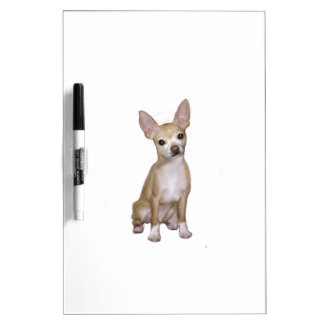 Chihuiahua (A) - Fawn sit Dry-Erase Whiteboards