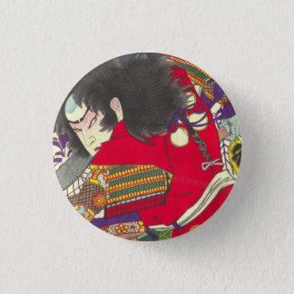 Chikanobu Samurai 3:5 1 Inch Round Button