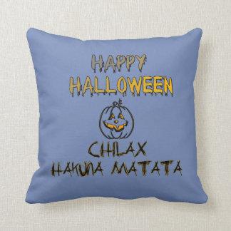 Chilax Happy Halloween Spooky No Worry No Problem Throw Pillow