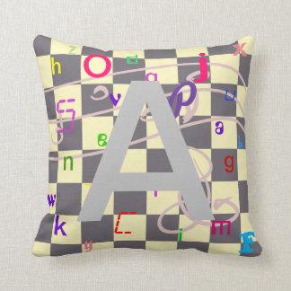Child ABC Alphabet Learning Reading CricketDiane Throw Pillow