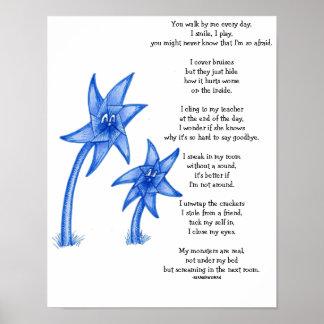 Child Abuse Awarness Poem Art Poster