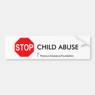 CHILD ABUSE... BUMPER STICKER