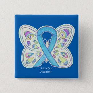 Child Abuse Butterfly Awareness Ribbon Art Pin