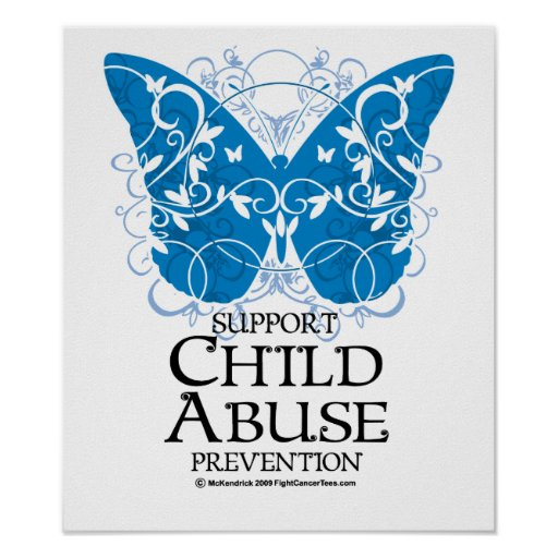 Child Abuse Butterfly Print