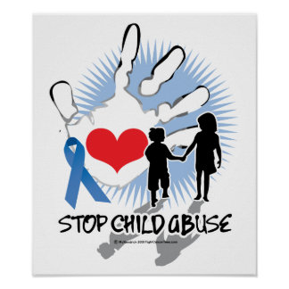 Child Abuse Handprint Poster