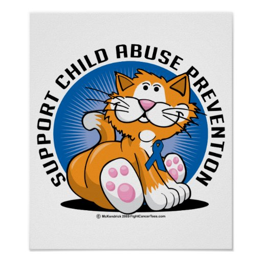 Child Abuse Prevention Cat Poster