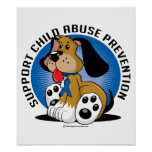 Child Abuse Prevention Dog Poster