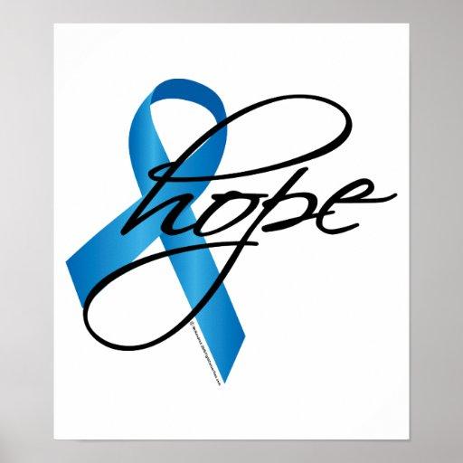 Child Abuse Ribbon Hope Print