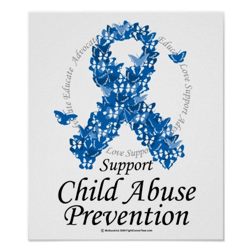 Child Abuse Ribbon of Butterflies Print