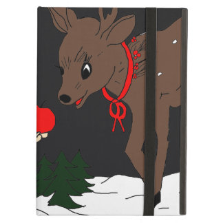 Child and Reindeer at Night iPad Covers