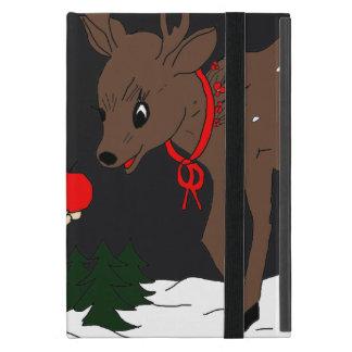 Child and Reindeer at Night iPad Mini Case