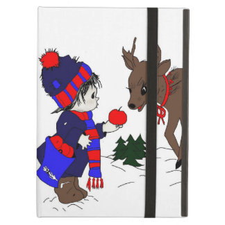 child and reindeer case for iPad air