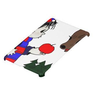 child and reindeer iPad mini cover