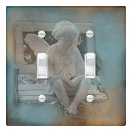 Child Angel Reading Book | Light Switch Cover