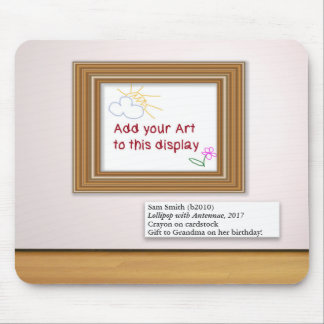 Child Artwork Art Gallery Frame Display Mouse Pad