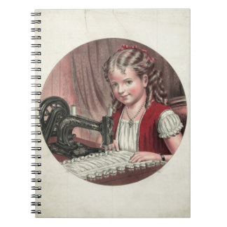 Child at Sewing Machine Notebooks