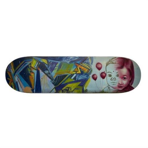 Child & baloons Graffiti Skateboard