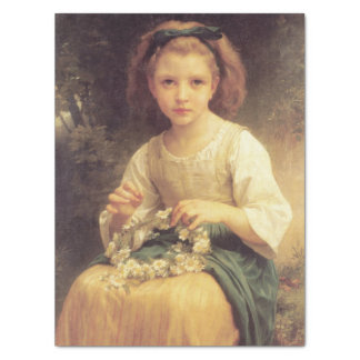 Child Braiding a Crown by W.A. Bouguereau Tissue Paper