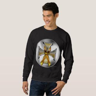 Child Cancer Iron Cross Men's Sweatshirt