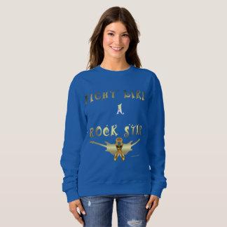 Child Cancer Rock Star Ladies Sweatshirt