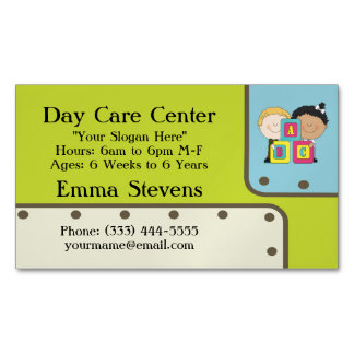 Child Care ABC Kids Business Card Magnet