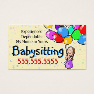 Child Care. Babysitting. Day Care Promo Card