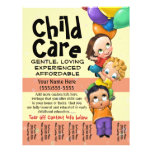 Child Care. Babysitting. Day Care. Tear sheet