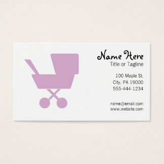 Child Care Babysitting Nanny Business Card