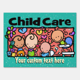 Child Care. Day Care. Advertising Customizable Sign
