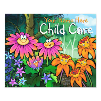 Child Care Day Care Babysitting Magical Garden 4x5 Flyers