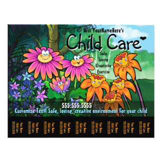 Child Care Day Care Babysitting Magical Garden Personalized Flyer