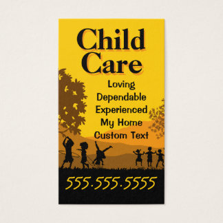 Child Care Day Care Babysitting Pediatrician Business Card