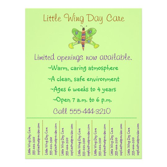 child care flyer    day care flyer w   tear