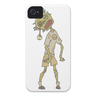 Child Creepy Zombie With Rotting Flesh Outlined iPhone 4 Case