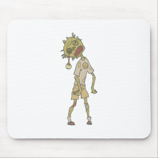 Child Creepy Zombie With Rotting Flesh Outlined Mouse Pad