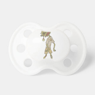 Child Creepy Zombie With Rotting Flesh Outlined Pacifier