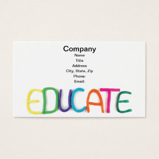 Child Education and School Business Card