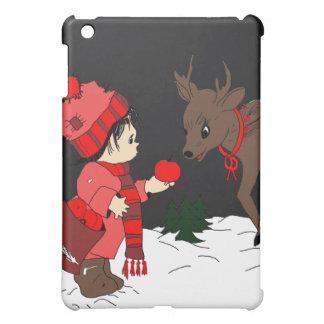 Child Feeding Reindeer iPad Mini Covers