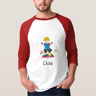 Child finger-painting t-shirt