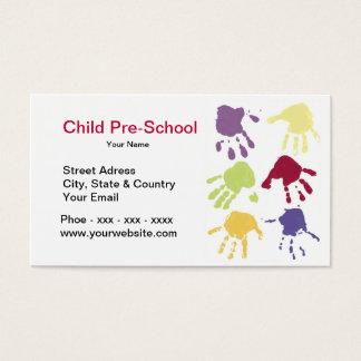 Child Hands Pre-School Business Card