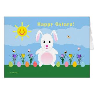 Child - Happy Ostara - Bunny in Garden Card