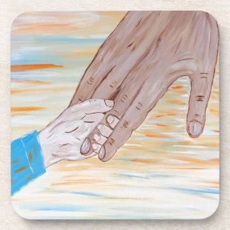 Child holding Father's hand Coaster