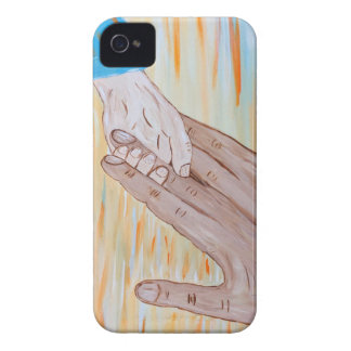 Child holding Father's hand iPhone 4 Case