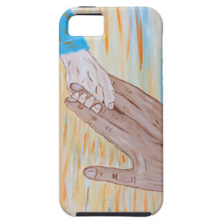 Child holding Father's hand iPhone 5 Cover