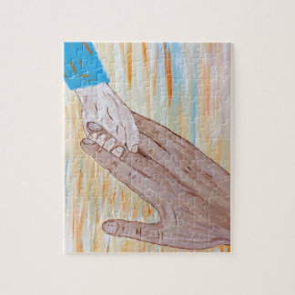 Child holding Father's hand Jigsaw Puzzle